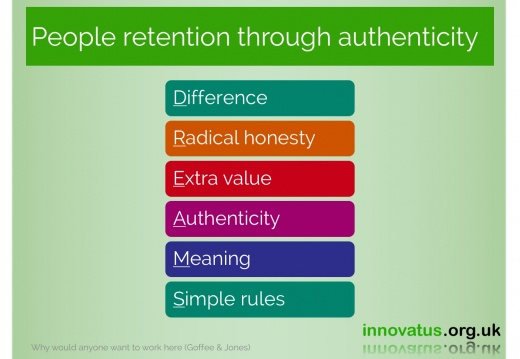 People retention through authenticity