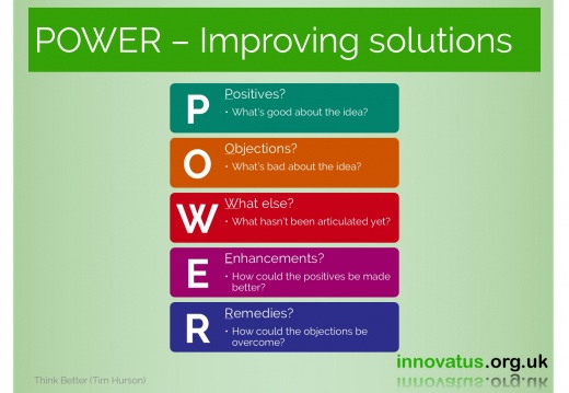 POWER Improving solutions